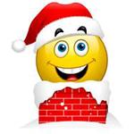 Going Down Chimney Facebook Emoticon