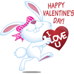 Happy Valentine's Day Facebook Emoticon