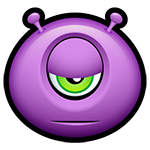 Indifferent Alien Facebook Emoticon
