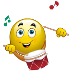 Drummer Facebook Chat Emoticon