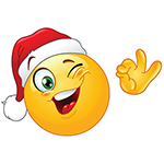 Happy Christmas Facebook Emoticon