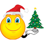 Facebook Emoticon Holding Christmas Tree