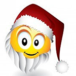 Santa Facebook Emoticon
