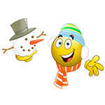 Snowman Facebook Emoticon