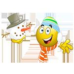 Snowman Facebook Emoticon