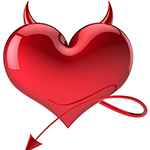 Devilish Heart Emoticon