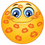 Kisses on Face Emoticon