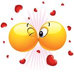 Kissing Facebook Emoticon