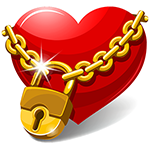 Locked Heart Chat Emoticon