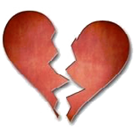 Broken Heart Facebook Emoticon