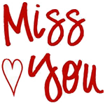 Miss You Facebook Message Emoticon