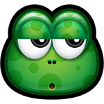 Bored Green Monster Facebook Sticker