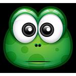 Concerned Green Monster Chat Sticker