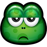 Green Monster Go Away Chat Sticker