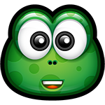 Happy Green Monster Chat Sticker