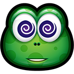 Green Monster Hypnotize Chat Sticker