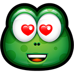 Green Monster In Love Chat Sticker