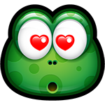 Green Monster Love Chat Sticker