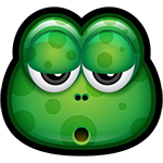 Meh Green Monster Facebook Sticker