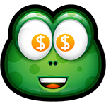 Green Monster Money Chat Sticker