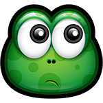 Ponder Green Monster Chat Sticker