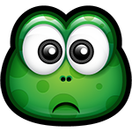 Facebook Green Monster Sad Chat Sticker