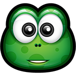 Green Monster Smile Facebook Sticker