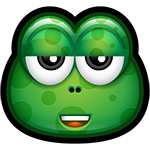 Facebook Green Monster Snark Chat Sticker