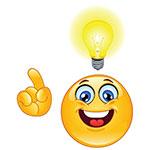 Bright Idea Facebook Chat Sticker
