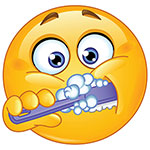 Facebook Brushing Teeth Chat Sticker