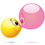 Facebook Bubble Kiss Chat Sticker
