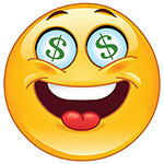 Dollar Signs Facebook Chat Sticker