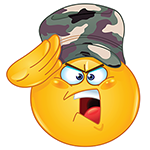 Drill Sergeant Facebook Chat Emoticon