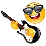 Facebook Rock Star Chat Emoticon