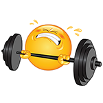 Weight Lifter Facebook Chat Emoticon