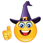 Facebook Witch Chat Emoticon