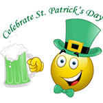 Celebrate Saint Patrick's Day Facebook Emoticon