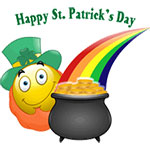 Happy St Patrick's Day Facebook Chat Emoticon