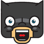 Laughing Batman Chat Sticker