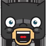 Laughing Batman Chat Sticker