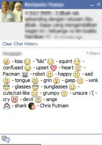 fb emoticons come face to face with exclusive emoticons facebook
